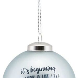 Ornament, Its beginning.... by House Doctor (D: 8 cm., Blå)