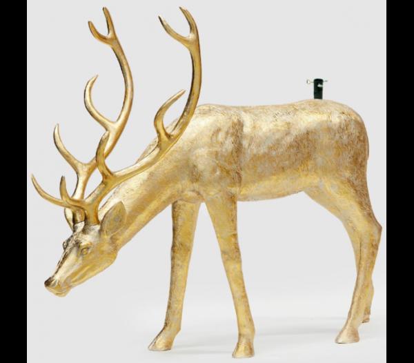 Rensdyr til kunstigt juletræ H140 x B162 cm - Antik guld