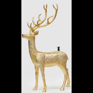 Rensdyr til kunstigt juletræ H214 x B138 cm - Antik guld