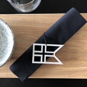 Ryborg Urban Designs - Splitflag Danmark - Hvid