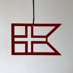 Ryborg Urban Designs - Splitflag Danmark - Rød