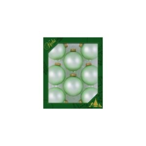Sæt med 8 glaskugler Ø6,7 cm - Velvet green
