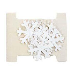 Snefnug guirlande - Papir - 165 cm- Hvid