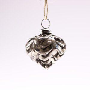 Sølv SIRIUS julekugle - Ø 7 cm