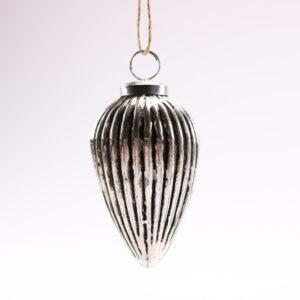 Sølv SIRIUS julekugle spids - 10 cm