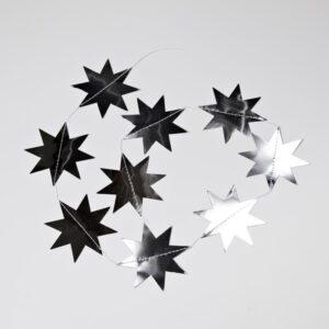 Stjerner på snor - Sølv - Ø 9,5 cm