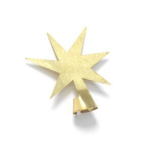 The Oak Men - Stjerne Messing - Tilbehør til Juletræer