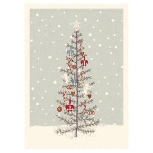 Til og fra kort - juletræ