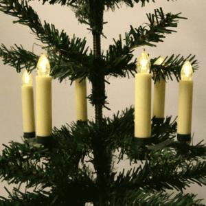 Trådløs juletræslys med fjernbetjening og flere funktioner (10 stk.)