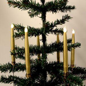 Trådløse LED-juletræslys Passer fx Georg Jensen lysholder (Guld)