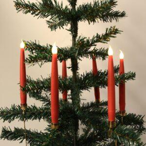 Trådløse LED-juletræslys Passer fx Georg Jensen lysholder (Rød)