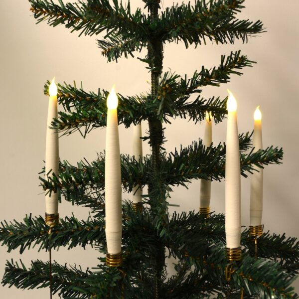Trådløse LED-juletræslys i hvid - Passer fx Georg Jensen lysholder (Hvid)