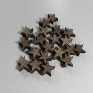 Træstjerner, Grå - Ø 2 cm, 15 stk.
