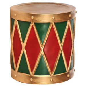 Tromme i polyresin Ø40 cm - Antik rød/Antik grøn
