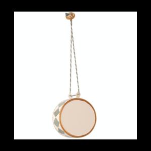 Tromme metal ornament Maileg - stor 5 cm, blå