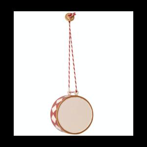 Tromme metal ornament Maileg - stor 5 cm, rød