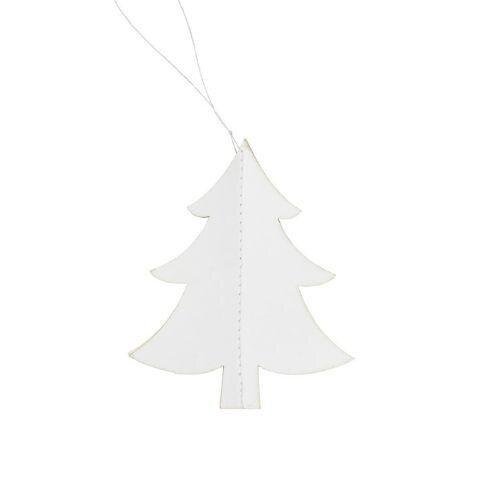 2. sortering - Juletræ i papir - Hvid - H 8,5 cm