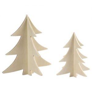 Dekorer 3D juletræer 2 stk