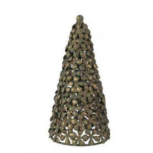 Juletræ antik metal- Stillenat - 22 cm høj