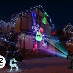 Spralla-Projektor med Bevægelige Mønstre