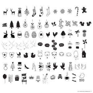 A Little Lovely Company Lyskasse Symbolsæt - Celebrations