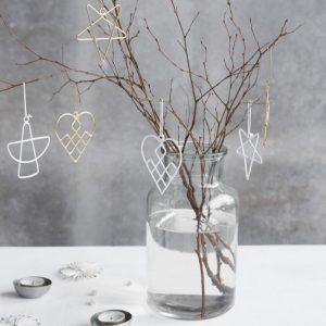 """Julepynt """"X-Mas"""" t/ophæng Sølv - House Doctor - Vælg ml. 3 designs"""