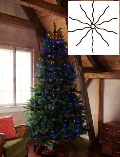 Sirius Knirke Juletræskæde med 195 Multifarvet lys