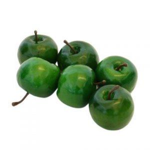 Pynte æbler - Mørkegrønne Ø 5 cm - 6 stk