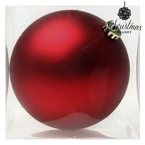 Julekugle Christmas Planet 8828 15 cm Krystal Rød