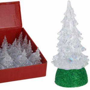 Juletræ med LED-lys, 10 cm