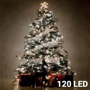 Hvide Julelys (120 LED)