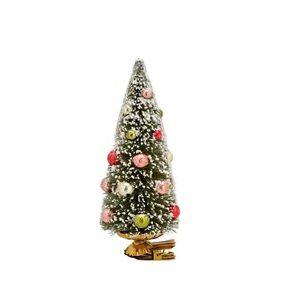 Juletræ på klips Modern x 15 cm Grøn Plast/Metal