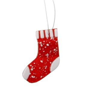 Glas julesok m/ophæng H=9 cm