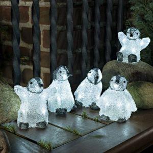 Konstsmide Akryl Pingvinbørn