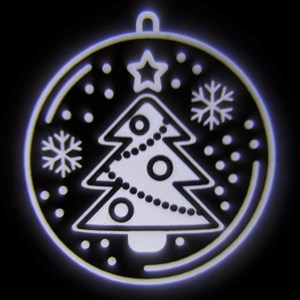 LED jule projektør juletræ Ø2m, 1W