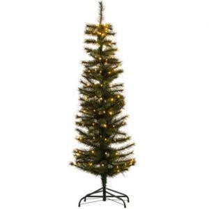 Sirius Alvin Smalt Juletræ med lys 150 cm