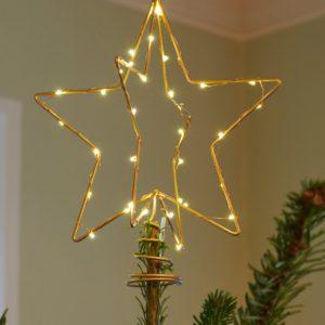 Sirius Christina Topstjerne til juletræ-Guld