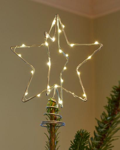 Sirius Christina Topstjerne til juletræ-Sølv