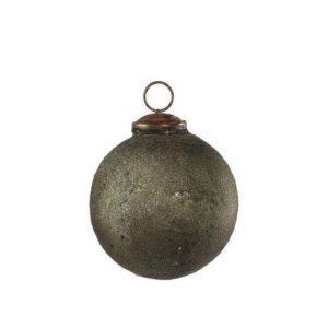 Antik Julekugle, Armygrøn - Ø 5 cm
