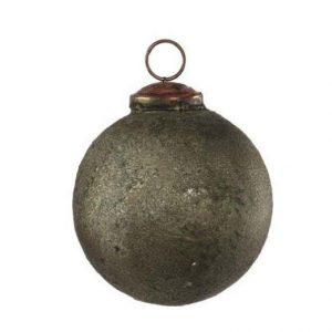 Antik Julekugle, Armygrøn - Ø 7 cm