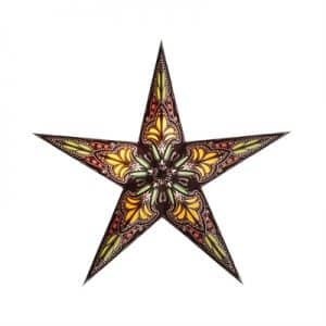 0 - 2021 - Stjernelampe - Jaipur brown/yellow str. S