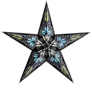 0 - 2021 - Stjernelampe - Jaipur turquoise/black str. M