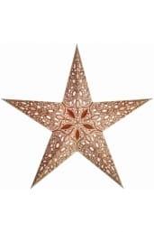 0 - 2021 - Stjernelampe med glimmer - Raja Copper str. S