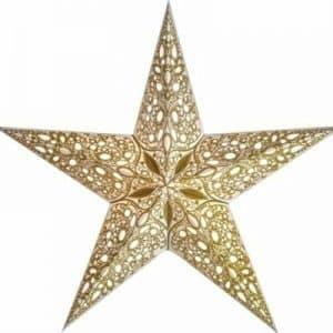 0 - 2021 - Stjernelampe med glimmer - Raja Gold str. M