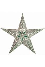 0 - 2021 - Stjernelampe med glimmer - Raja Green str. M