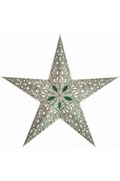0 - 2021 - Stjernelampe med glimmer - Raja Green str. S