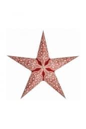 0 - 2021 - Stjernelampe med glimmer - Raja Red str. M