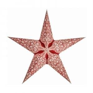 0 - 2021 - Stjernelampe med glimmer - Raja Red str. S