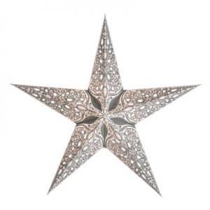 0 - 2021 - Stjernelampe med glimmer - Raja Silver str. M