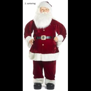 2. sortering Julemand i velour H185 cm - Rød